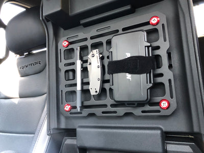 Center Console MOLLE Panel - Steel Tech Plate Installation