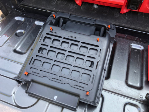 center console molle panel install