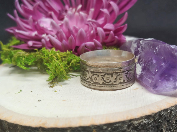 Floral Patterned Band ~ Size 8.75 (ON SALE $37.10)