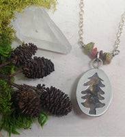 Lichen Moss Tree Necklace (ON SALE $60.90)