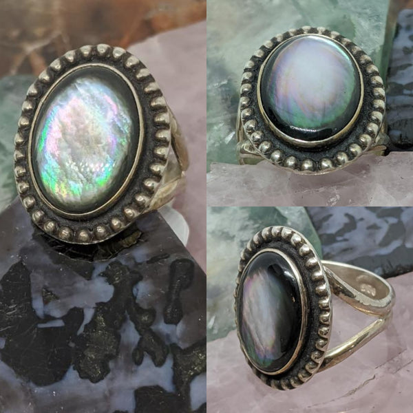 Abalone Shell Mermaid Ring ~ Size 8