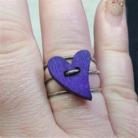 Purple Heart Ring ~ Size 9.5
