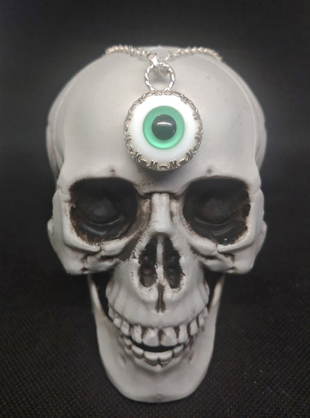 Teal Eye Necklace