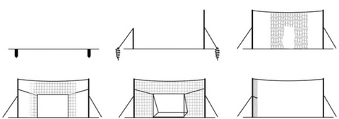 Open Goaaal Soccer Football Goal Backstop and Rebounder