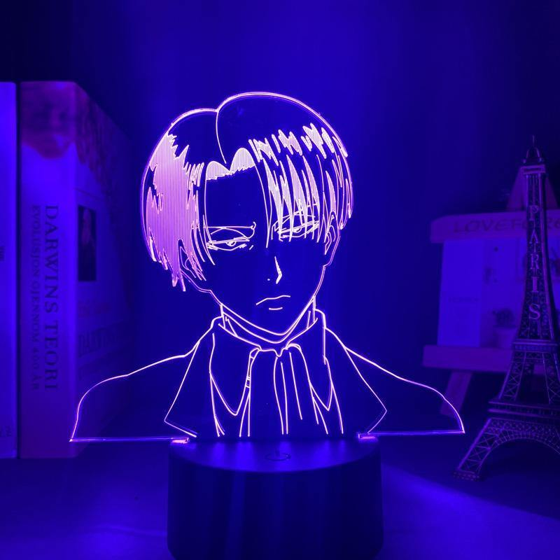 Levi Styling Anime Lamp (Attack on Titan) - KonohaLampCo