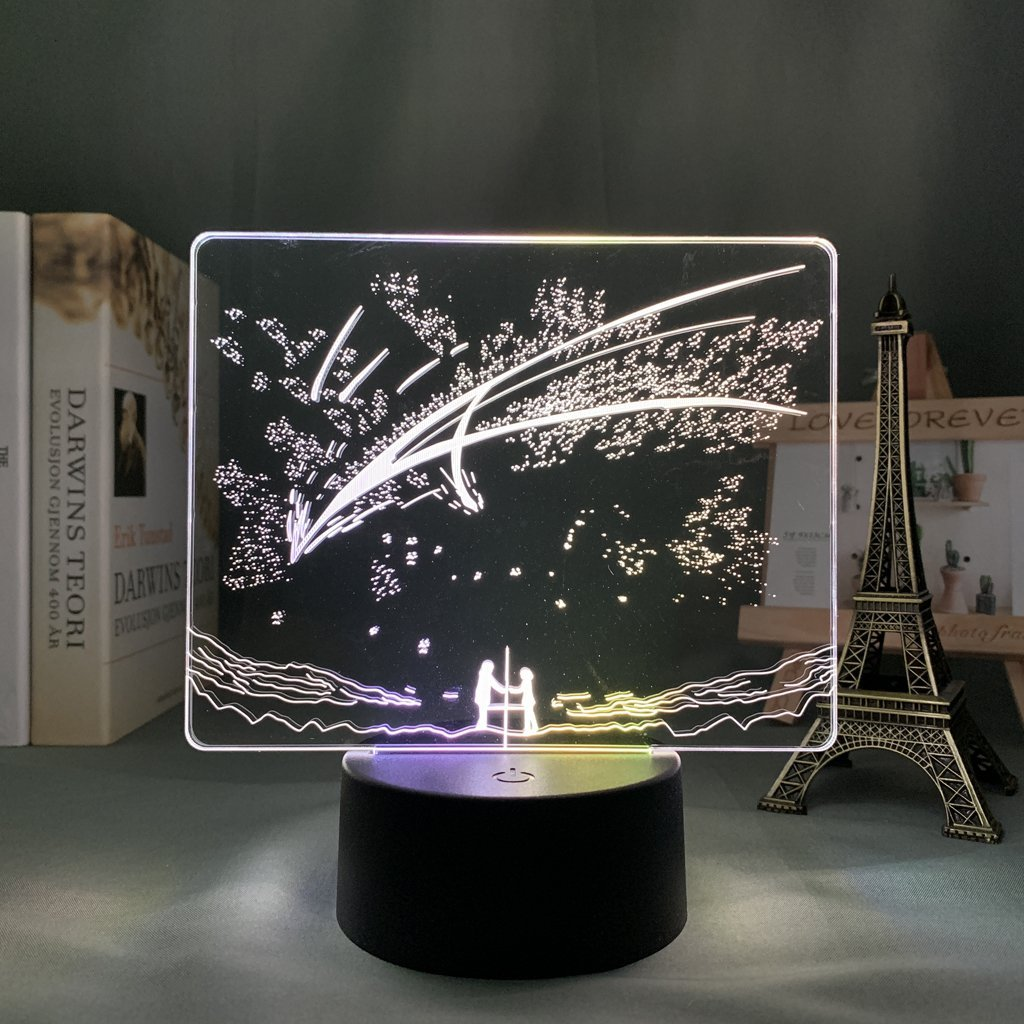 Mitsuha and Taki Anime Lamp (Your Name) KonohaLampCo