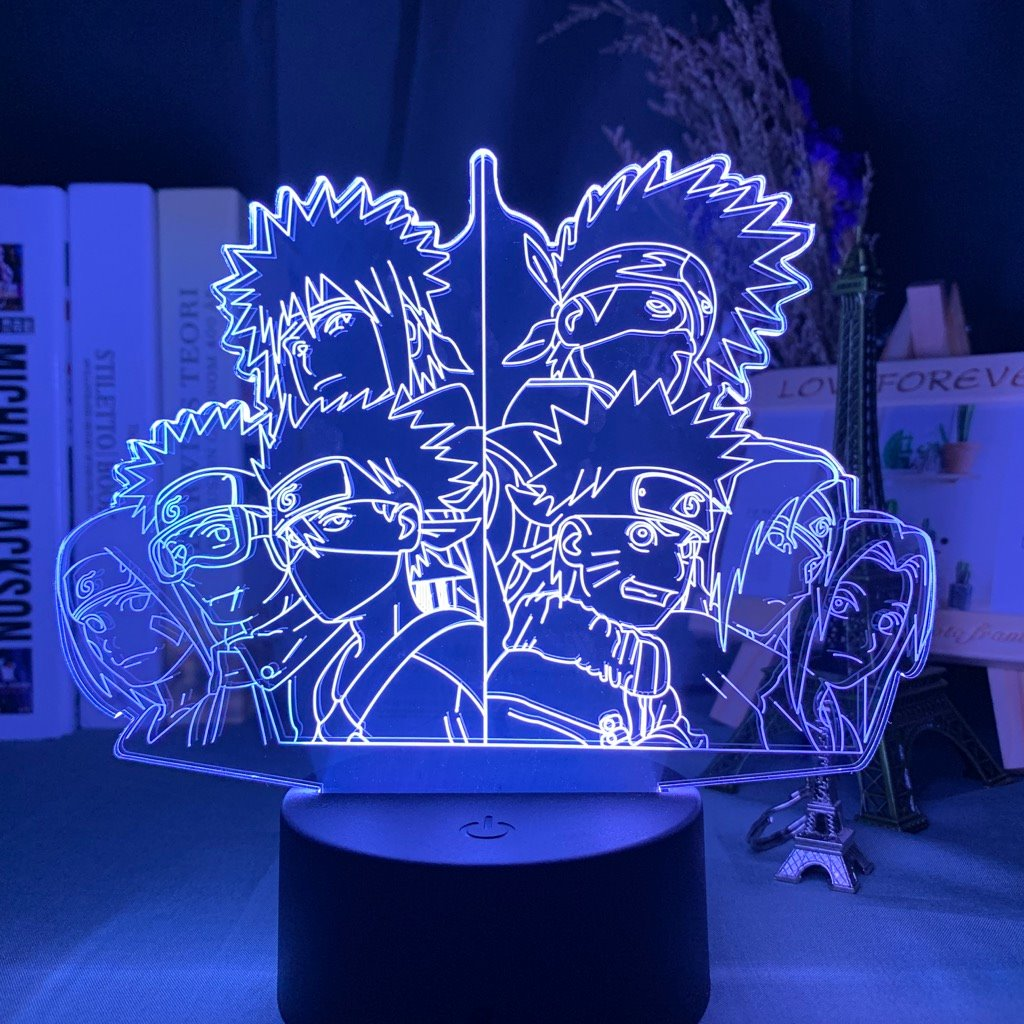 Squad 7 Old and New Anime Lamp 39050508 KonohaLampCo