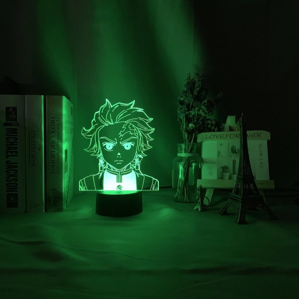 Tanjiro Kamado Anime Lamp (Demon Slayer: Kimetsu No Yaiba) KonohaLampCo
