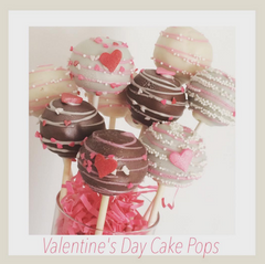 Valentines Day Cake Pops-Swirls