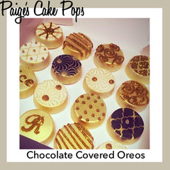 Chocolate Covered Oreos - Gold