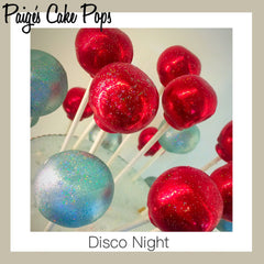 Disco Ball Cake Pops - Red
