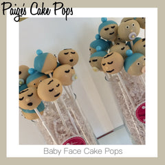 Baby Shower Cake Pops - Baby Faces