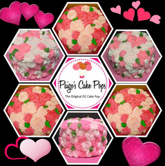 Pink Hombre Rosette Cake