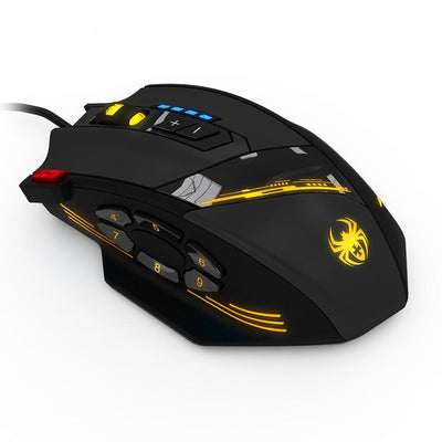 LED LIGHTS 12 Programmable Buttons Gaming Mouse - XGamerPro