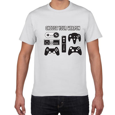 Choose Your Weapon T-shirt - XGamerPro