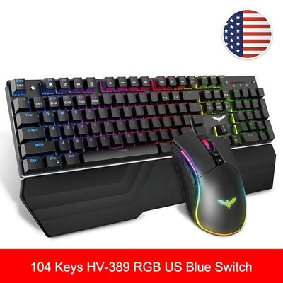 RGB Gaming Mechanical Keyboard Blue / Red Switch - XGamerPro