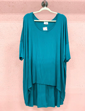 Teal High Low Tunic