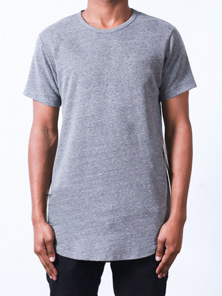 Heather Grey | Side-Zip Long Tee - Rustic Dime