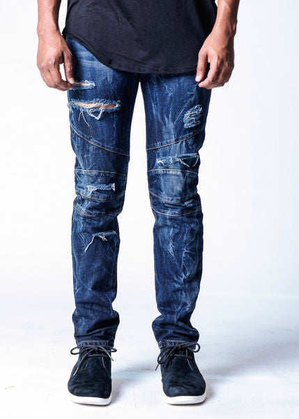Blue Steel | Biker Denim - Rustic Dime