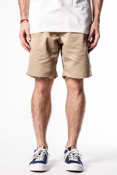 Khaki | Workwear Chino Shorts - Rustic Dime
