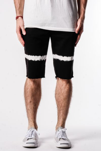 Black | Band Denim Shorts