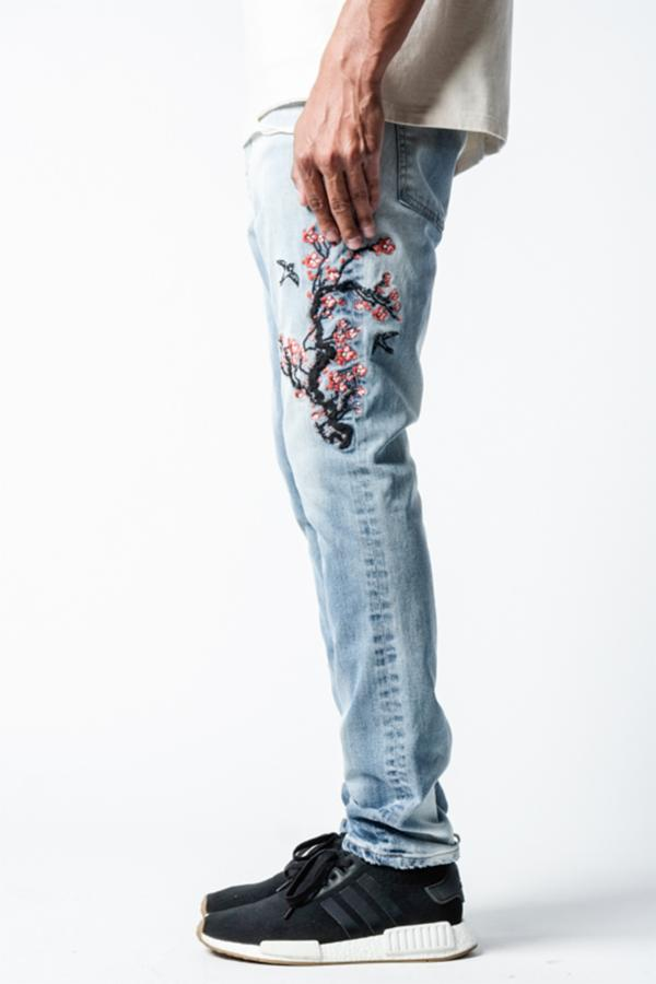 Cherry Blossom | Embroidered Taper Fit - Rustic Dime