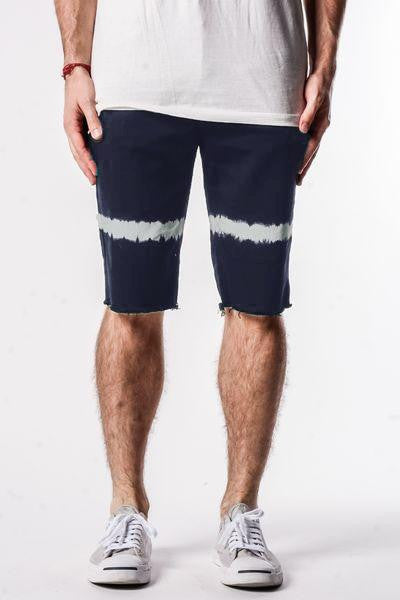 Navy | Band Denim Shorts - Rustic Dime