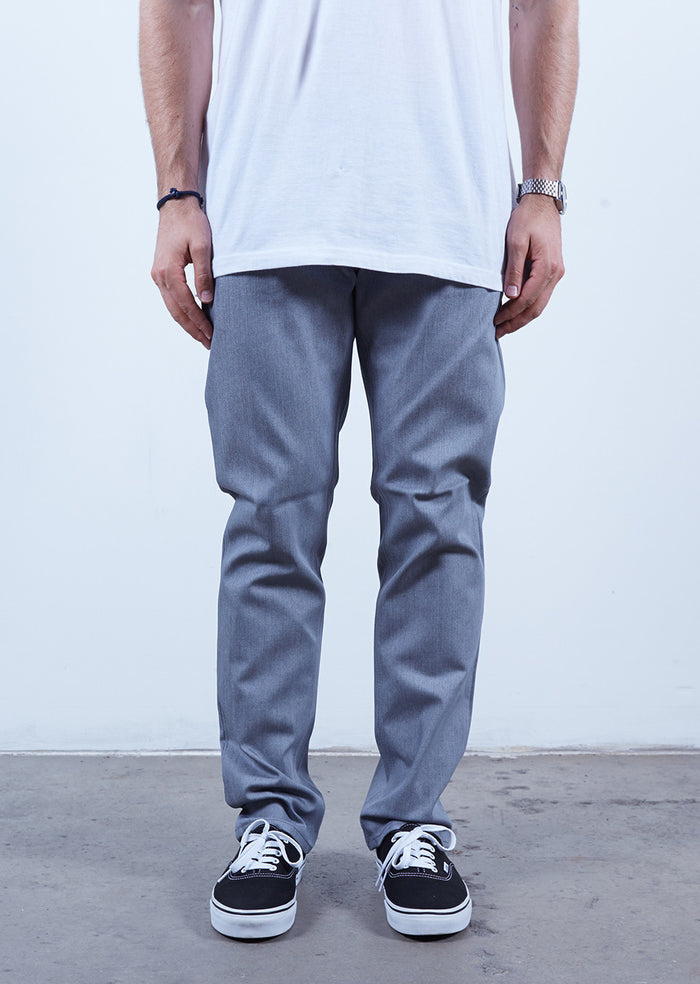 Soft Grey | Slim Fit - Rustic Dime