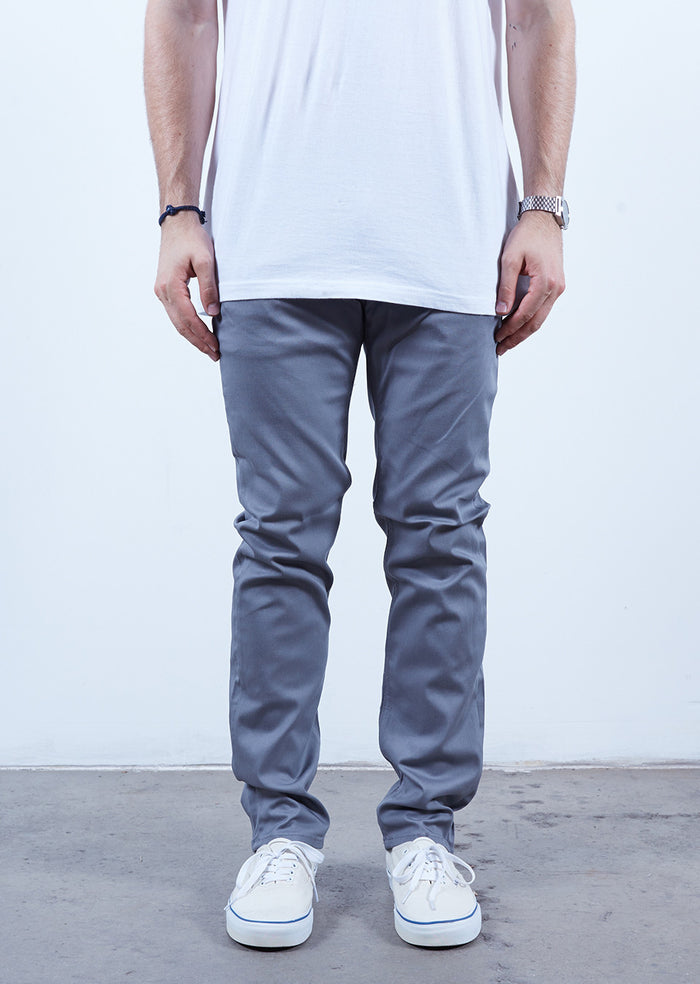 Silver | Chino Slim Fit - Rustic Dime