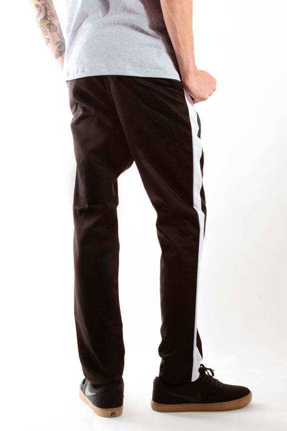 Black & White | Striped Chino Pants - Rustic Dime