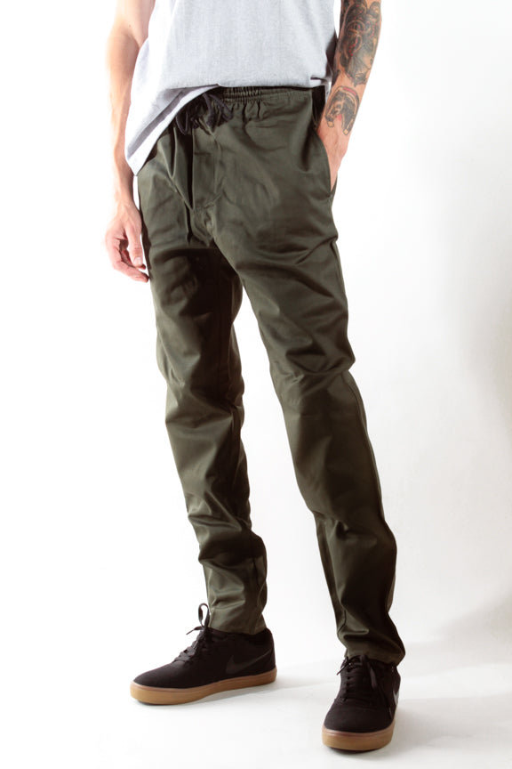 Olive Boardwalk Pants - Rustic Dime - Made in USA