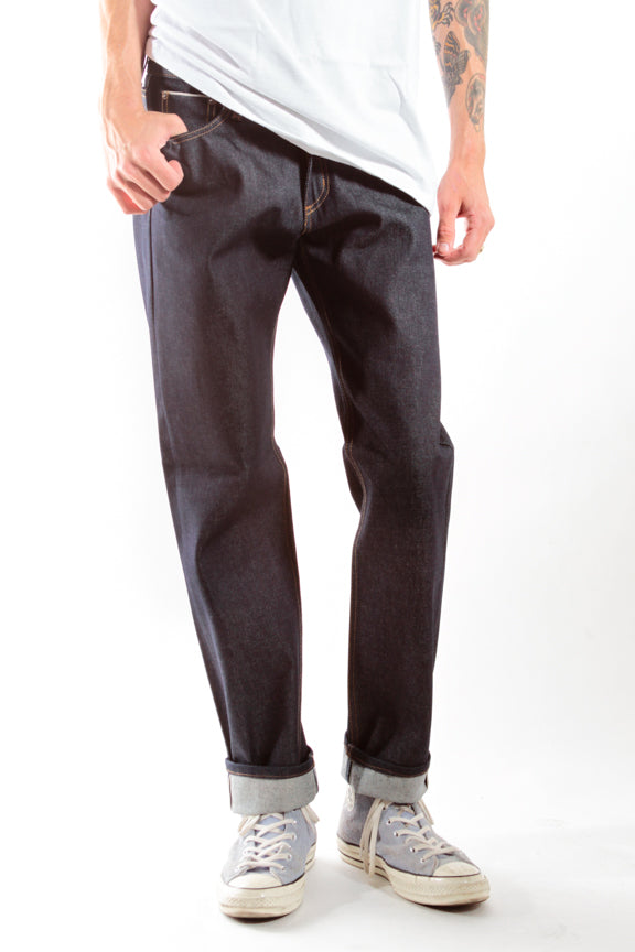 BLUE DENIM | CLASSIC FIT SELVEDGE DENIM - Rustic Dime - Made in USA
