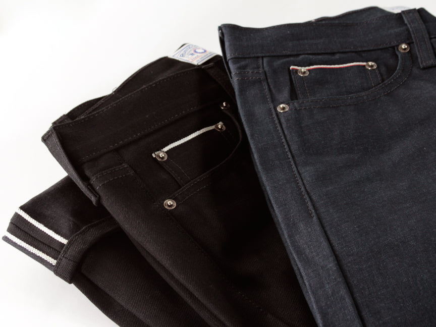 MOONLIGHT BLUE | SLIM STRAIGHT SELVEDGE DENIM - Rustic Dime - Made in USA