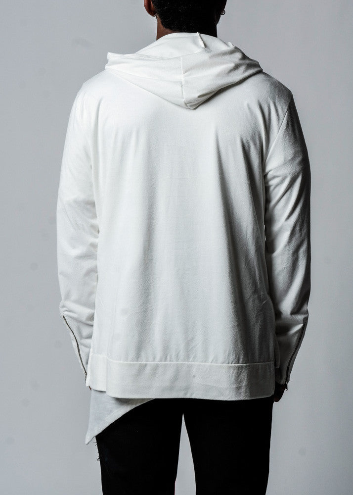 White | Suede Hoodie - Rustic Dime - Made in USA