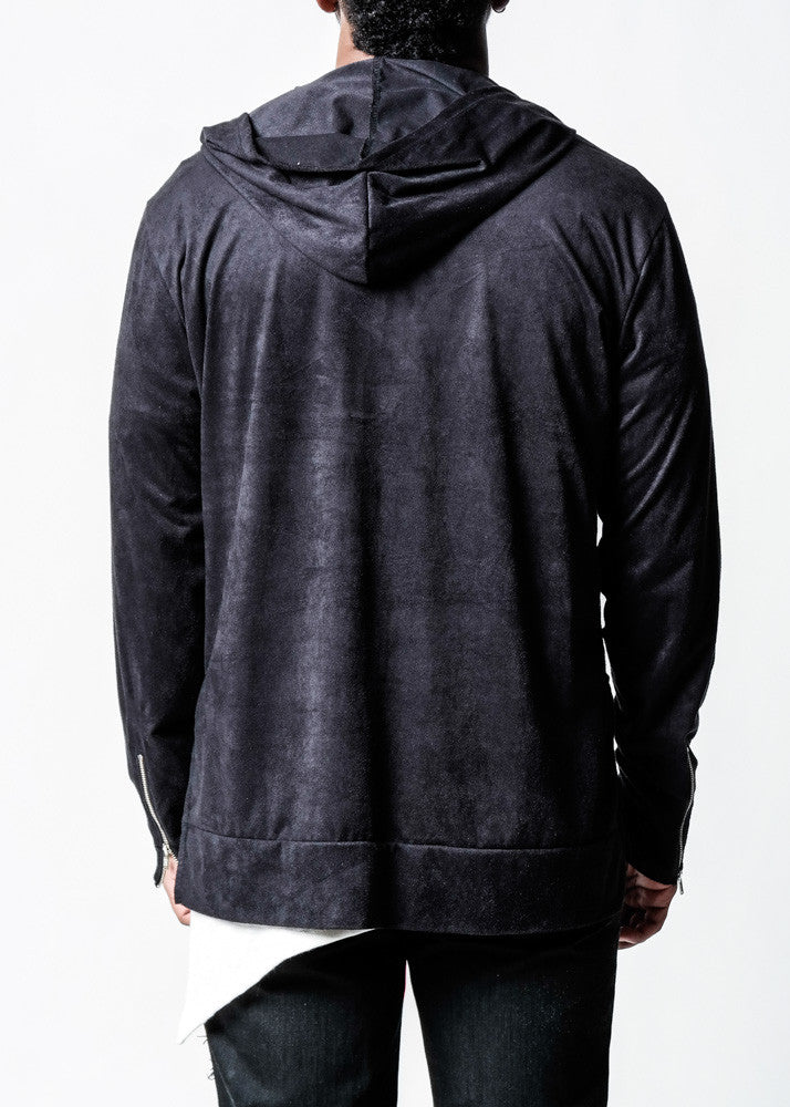 Black | Suede Hoodie - Rustic Dime - Made in USA