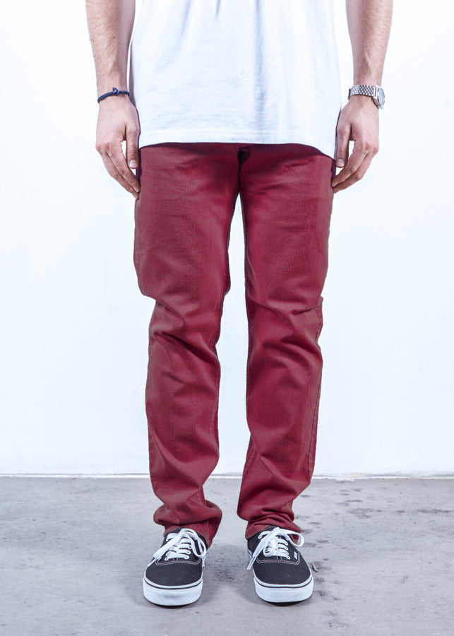 Burgundy | Slim Fit - Rustic Dime