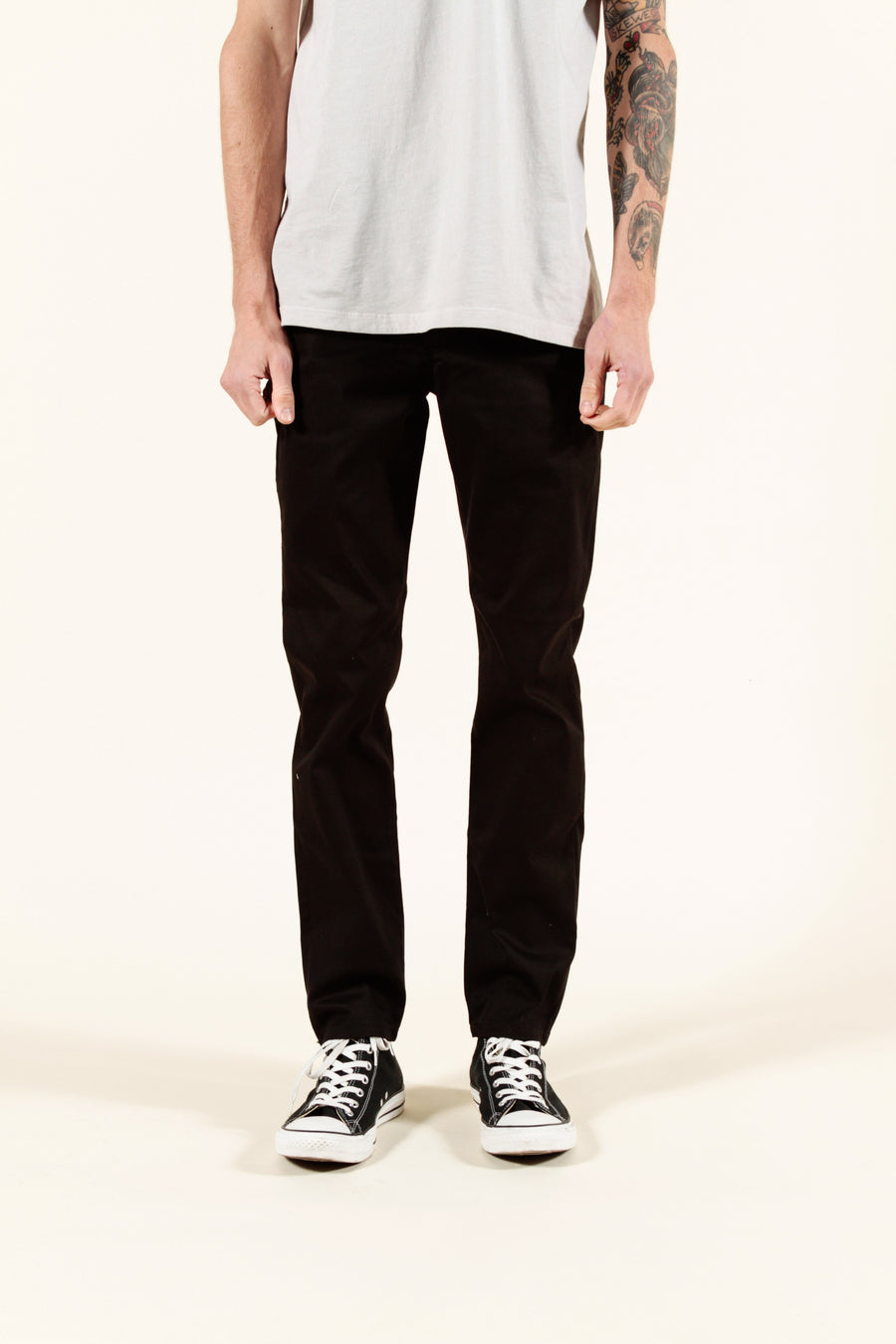 BLACK | SUMMER CHINO SLIM - Rustic Dime