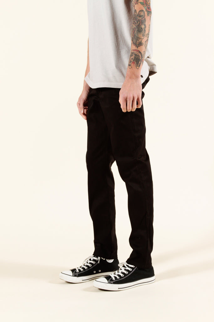 BLACK | SUMMER CHINO SLIM - Rustic Dime - Made in USA