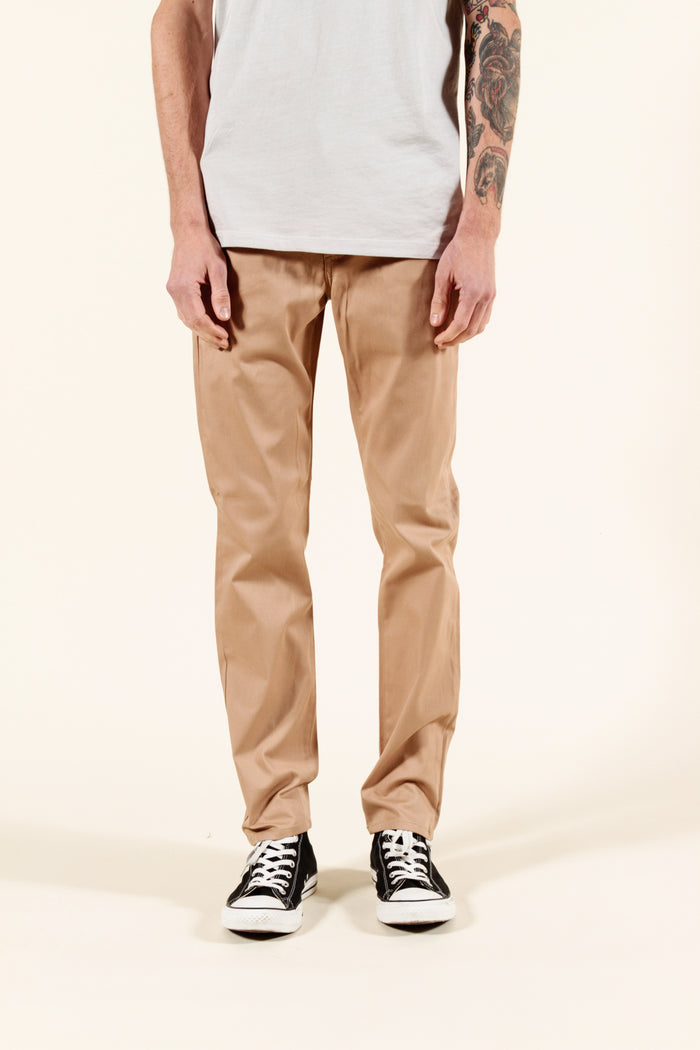 ALMOND | SUMMER CHINO SLIM - Rustic Dime - Made in USA