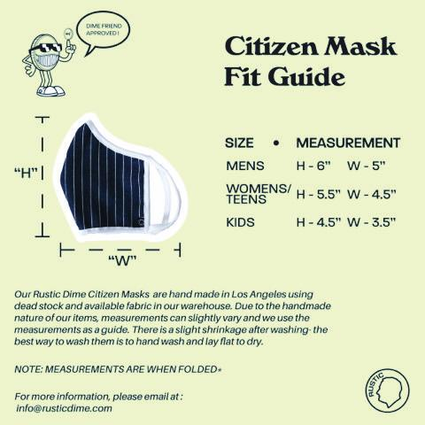 CITIZEN MASK | RAILROAD GREY - Rustic Dime - Made in USA