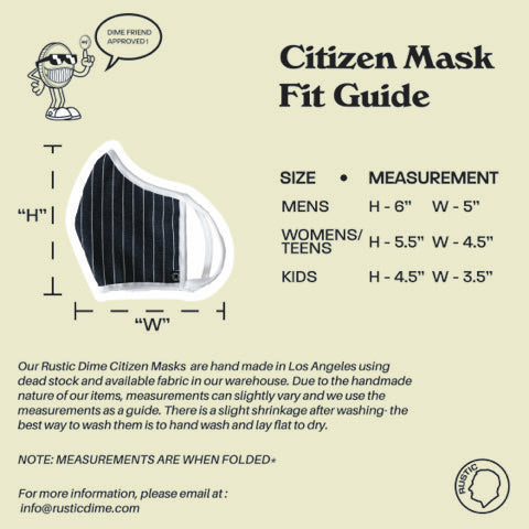 CITIZEN MASK | NAVY STRIPE - Rustic Dime - Made in USA