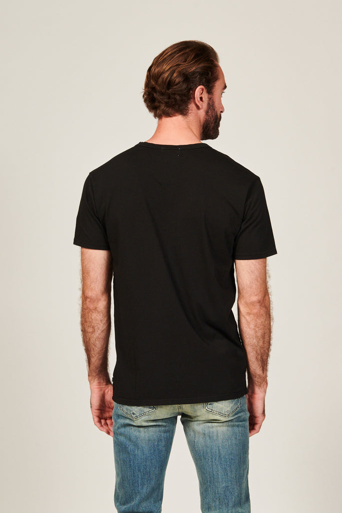 DIME CURVED TEE | BLACK - Rustic Dime - Made in USA