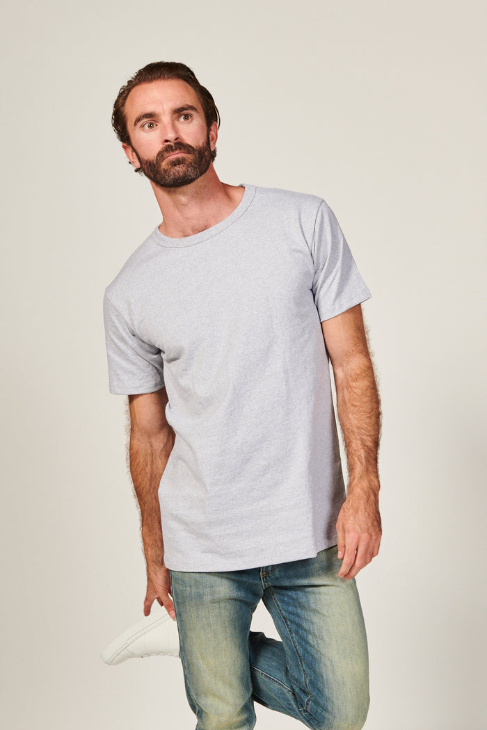 12S CLASSIC TEE | GREY - Rustic Dime - Made in USA