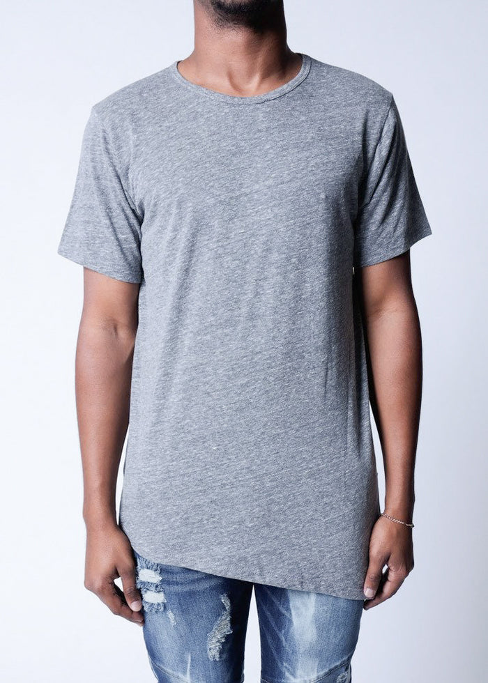 Heather Grey | Asym Tee - Rustic Dime