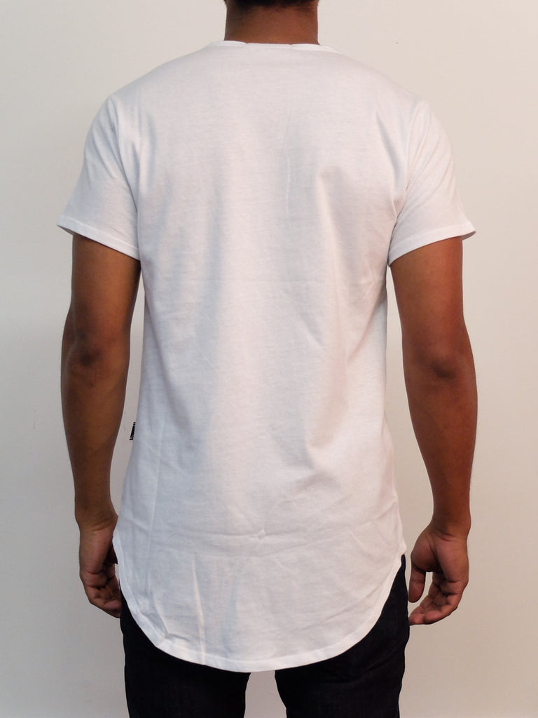 White | Long Tee - Rustic Dime