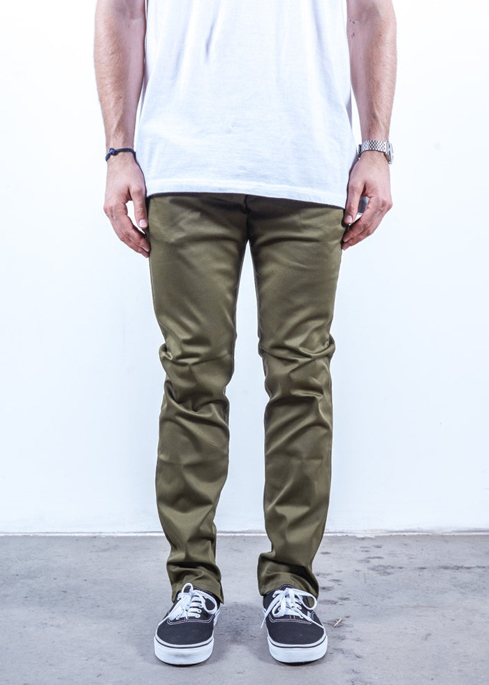 Olive | Chino Slim Fit - Rustic Dime