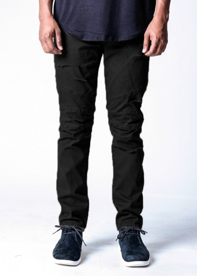 Black Shredded | Biker Denim - Rustic Dime
