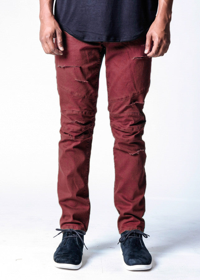 Vino Shredded | Biker Denim - Rustic Dime