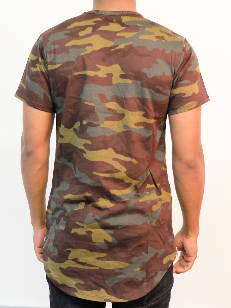 Camo | Side-Zip Long Tee - Rustic Dime