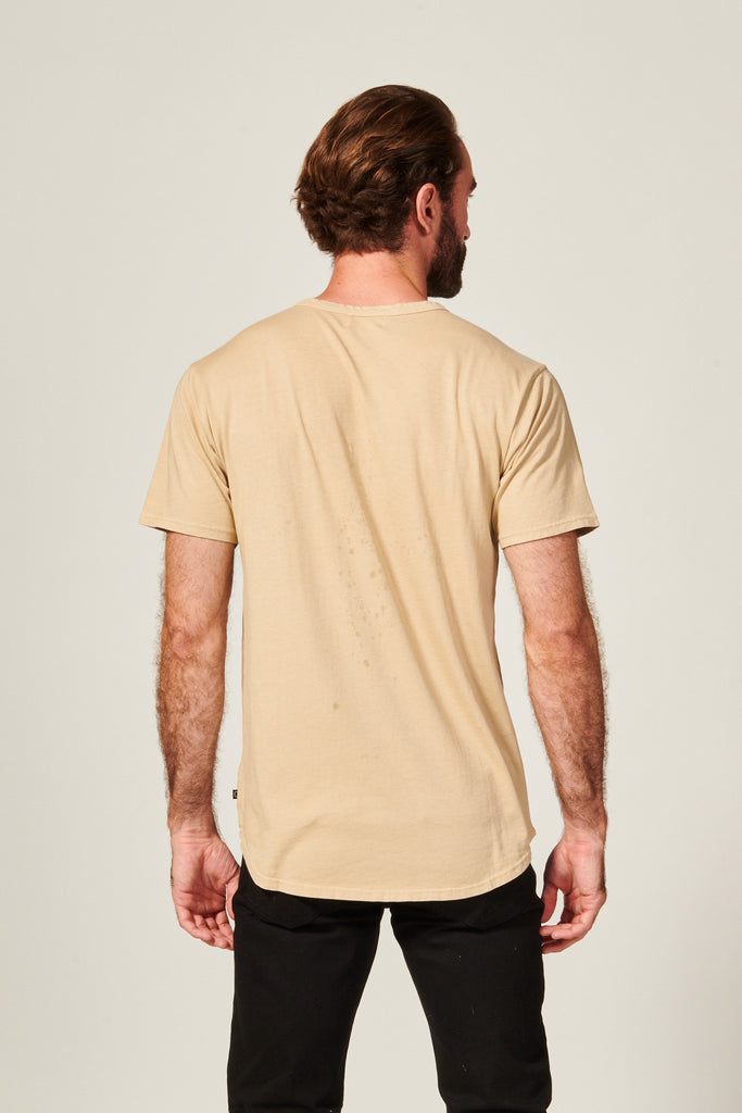DIME CURVED TEE | SAND - Rustic Dime - Made in USA